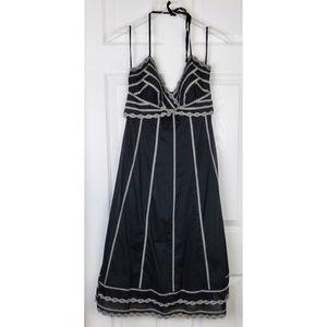 White House black market black Embroidered dress